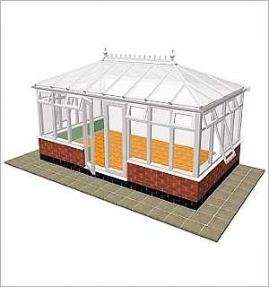 edwardian double hipped conservatory