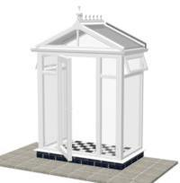 DIY Conservatories, Conservatory Design and Model 1FH Pavilion Porch 1950mm wide x 1100mm